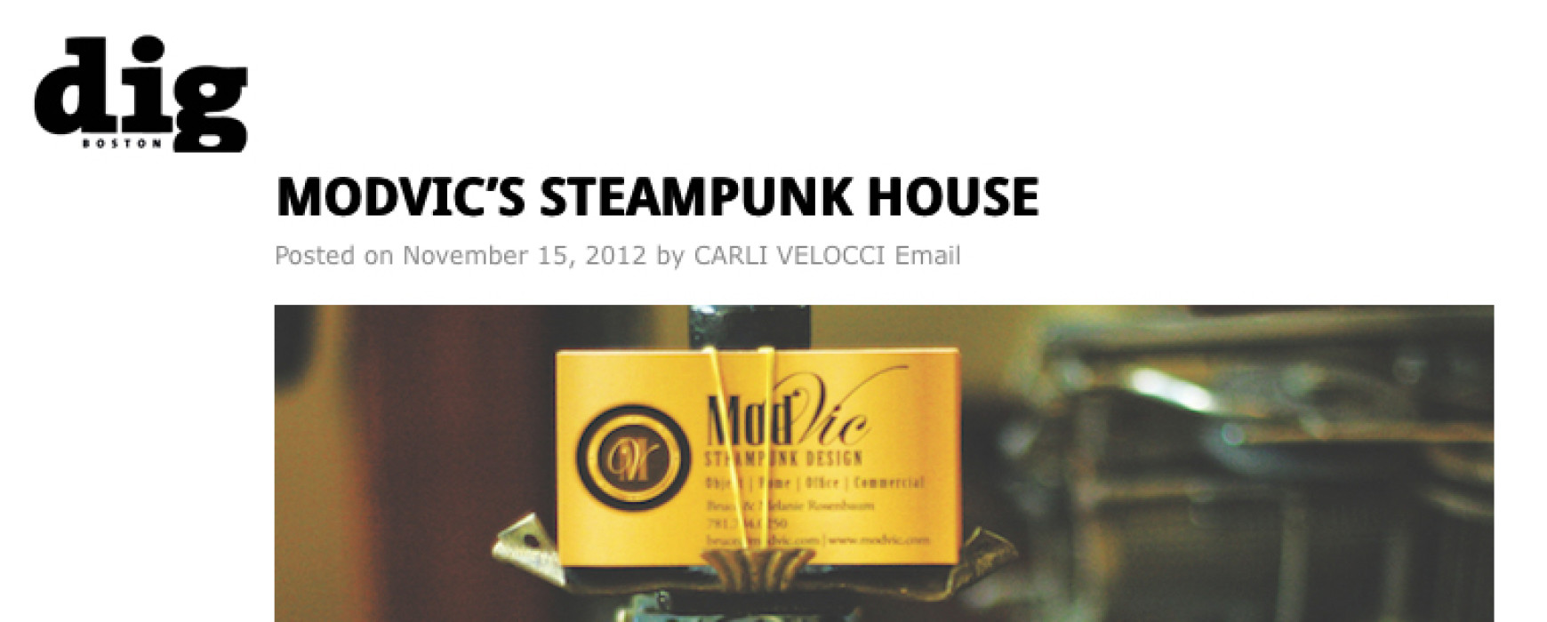 dig BOSTON : MODVIC'S STEAMPUNK HOUSE