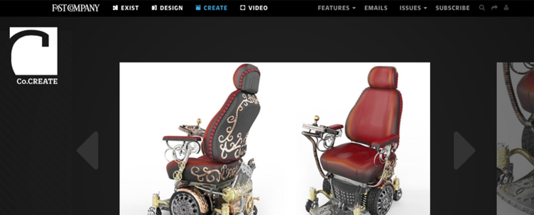 FastCompany : SEE WHEELCHAIRS REIMAGINED AS TRICKED-OUT STEAMPUNK RIDES