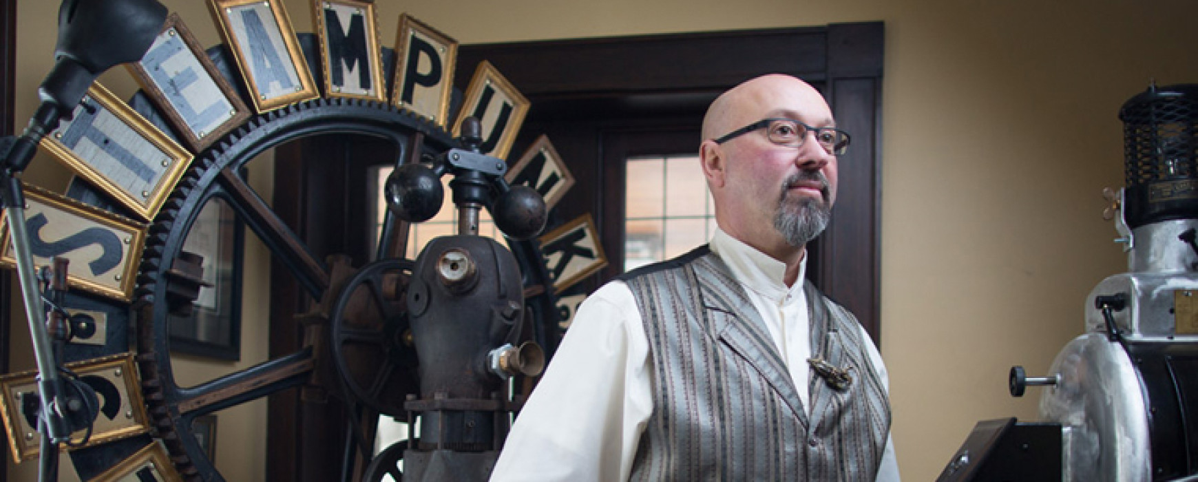 Wall Street Journal Newspaper Clip- Bruce Rosenbaum, the Steampunk Man