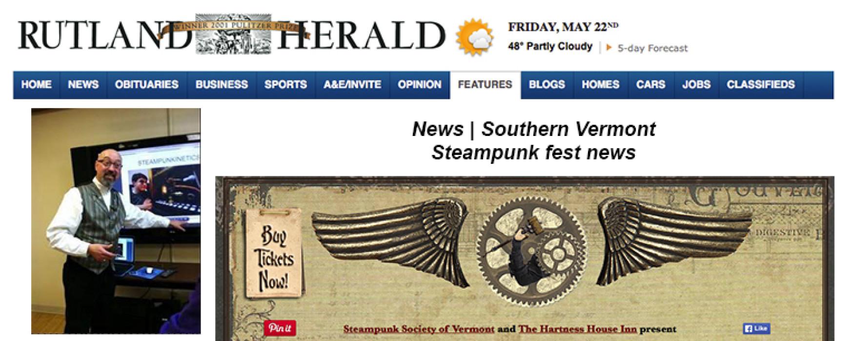 Rutland Herald: Steampunk fest news