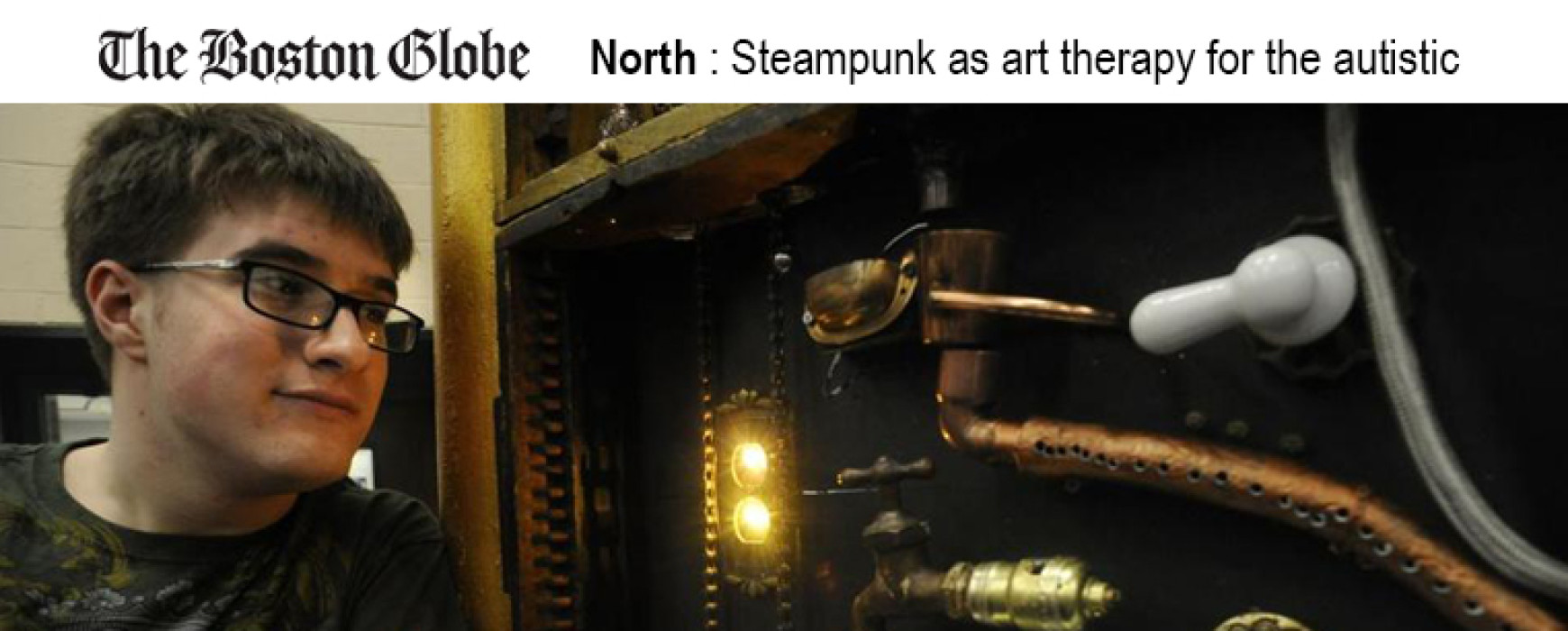 The Boston Globe: Steampunk as art therapy for the autistic