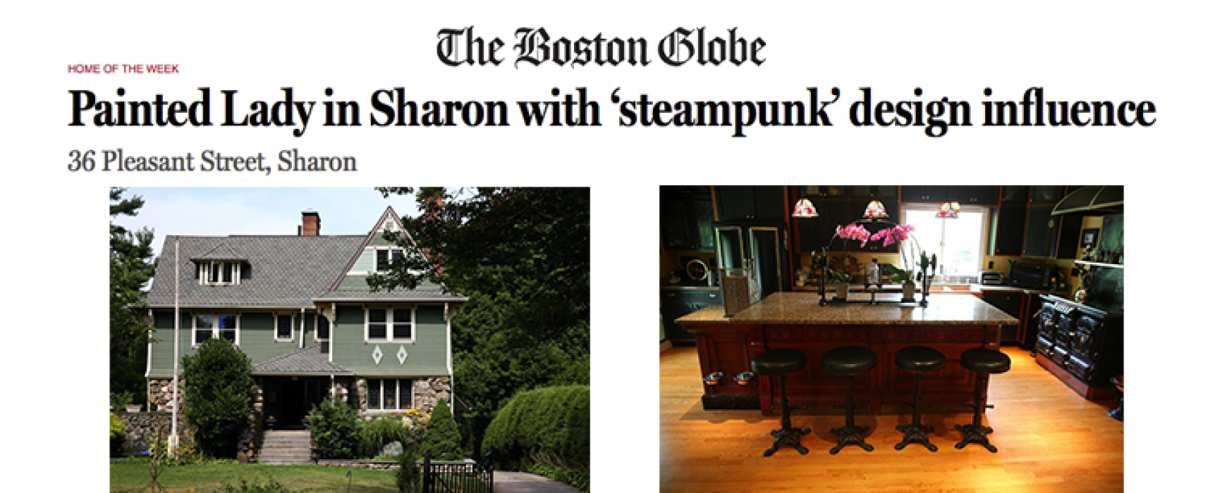 The Boston Globe : Painted Lady in Sharon with 'steampunk' design influence