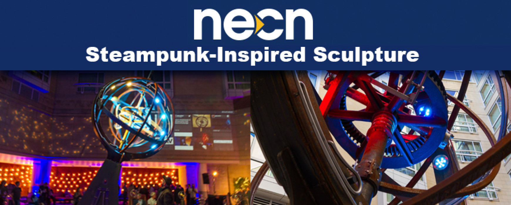 NECN: Steampunk-Inspired Sculpture